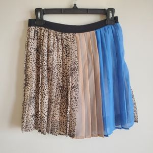 UO sparkle and fade leopard print pleated skirt